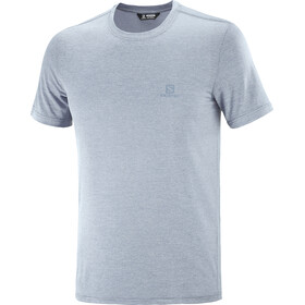 Salomon Explr Pique SS Tee Men, ashley blue/heather
